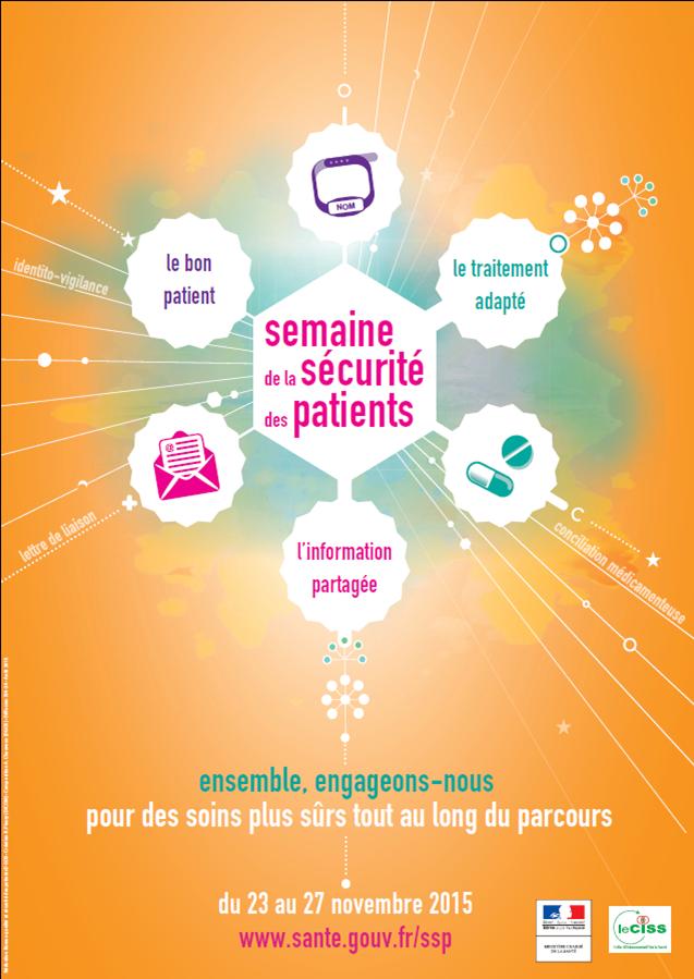 SEMAINE DE LA SÉCURITÉ DES PATIENTS: du 23 au 27 novembre 2015!!!