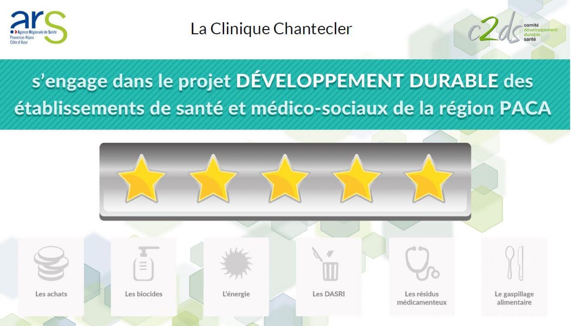 La Clinique Chantecler engagée dans la démarche Développement Durable